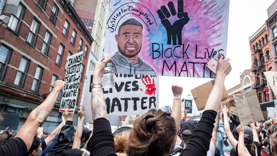 Las protestas tras la violenta muerte de George Floyd en Nueva York.