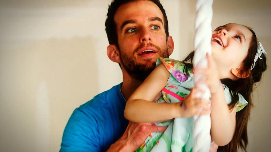 Matt Stranger con su hija