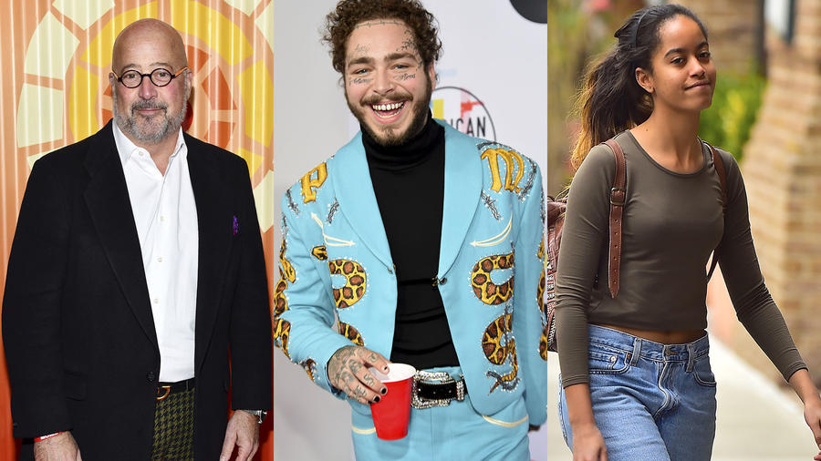 Malia Obama, Andrew Zimmern y Post Malone