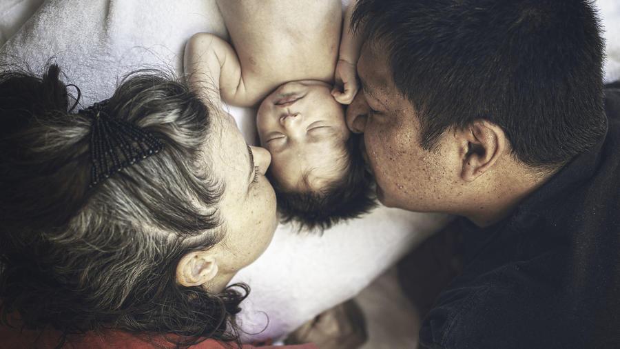 Padres e hijos ADN