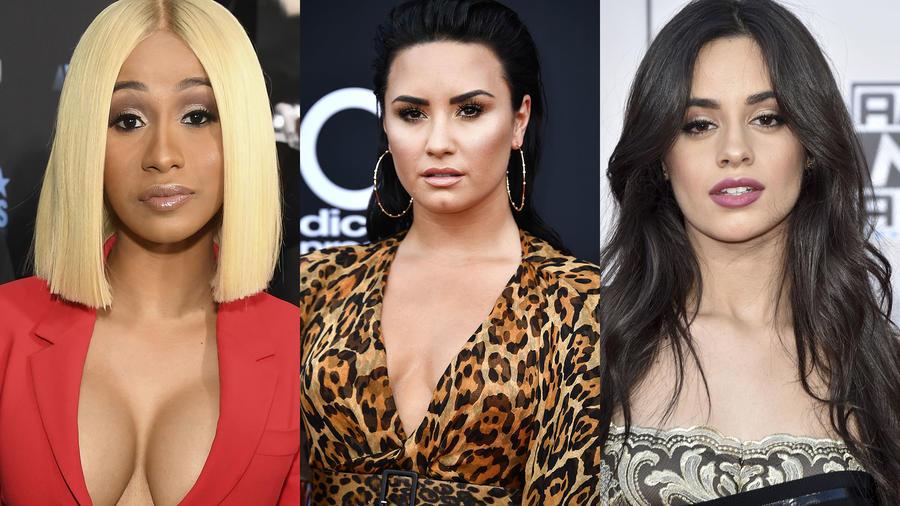 Camila Cabello, Cardi B y Demi Lovato