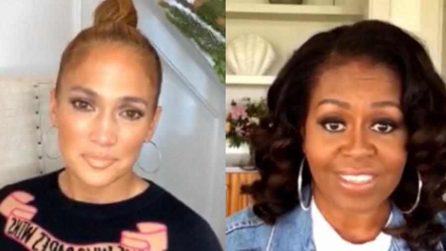 Jennifer Lopez y Michelle Obama