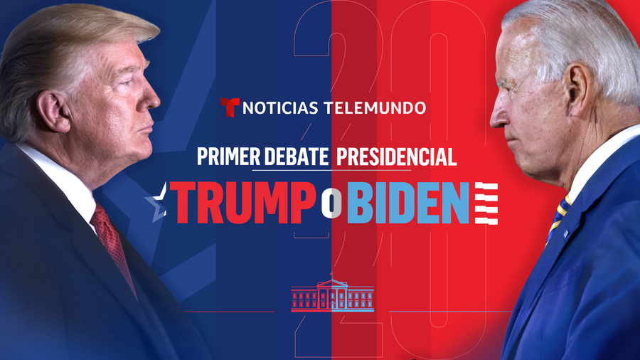 Debate presidencial entre Donald Trump (izq.) y Joe Biden (der.)