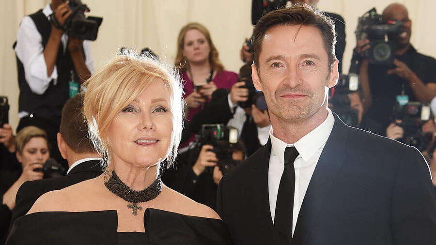 Deborra-lee Furness y Hugh Jackman en New York
