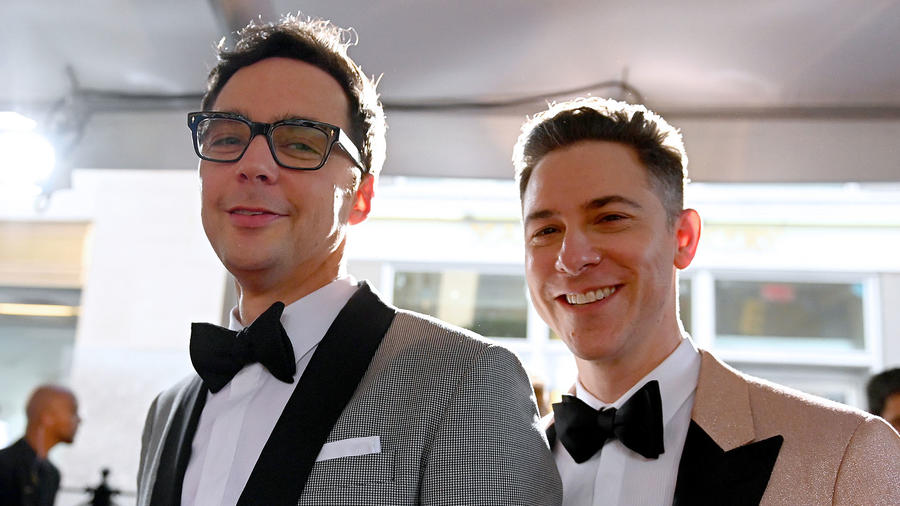 Jim Parsons y Todd Spiewak en New York