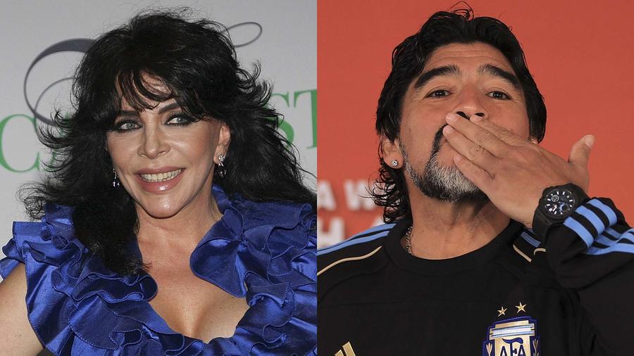 Diego Armando Maradona y Veronica Castro