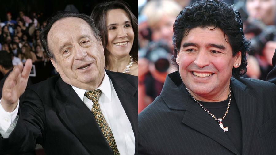Maradona y Roberto Gomez Bolaños