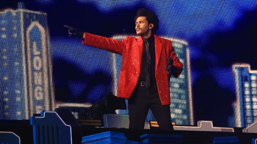 The Weeknd en el halftime del Super Bowl 2021