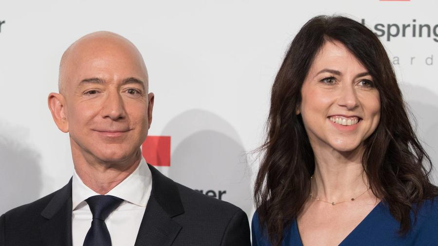 Mackenzie Scott y Jeff Bezos Alemania 2018