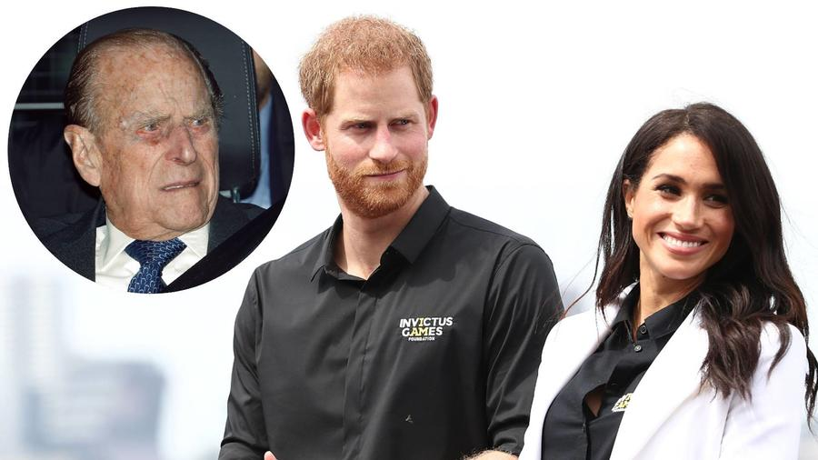 El príncipe Philip; Harry y Meghan Markle