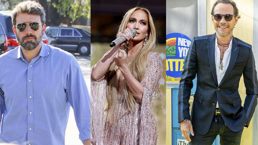 Ben Affleck, Jennifer Lopez y Marc Anthony.