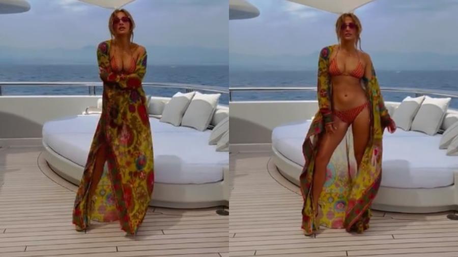 Jennifer Lopez festejando sus 52 años en bikini sobre un yate