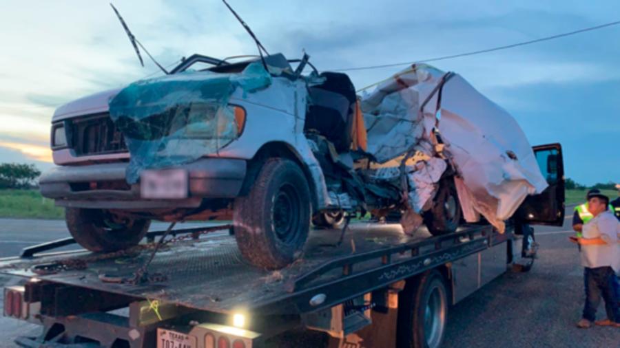 camioneta accidentada