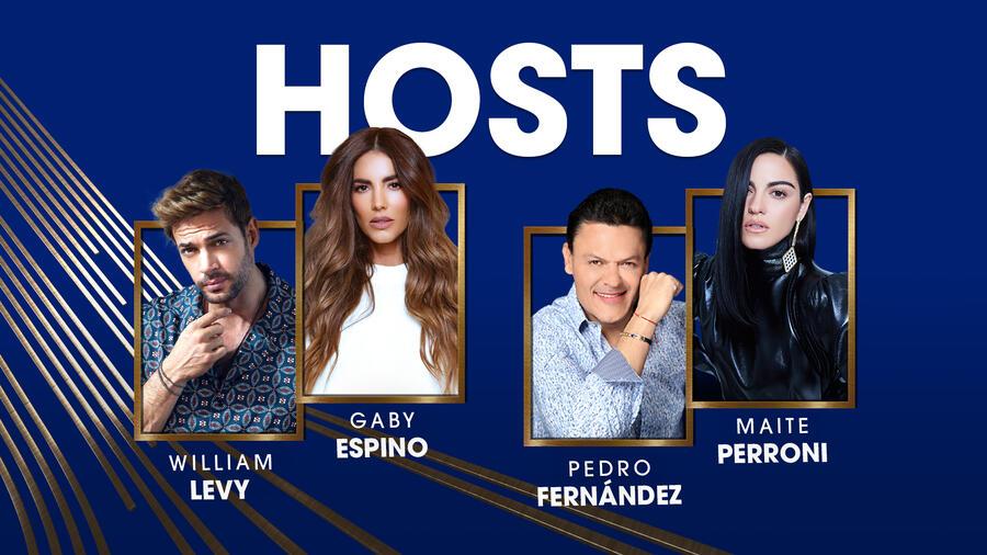 William Levy, Gaby Espino, Pedro Fernández, y Maite Perroni conducirán los Premios Billboard