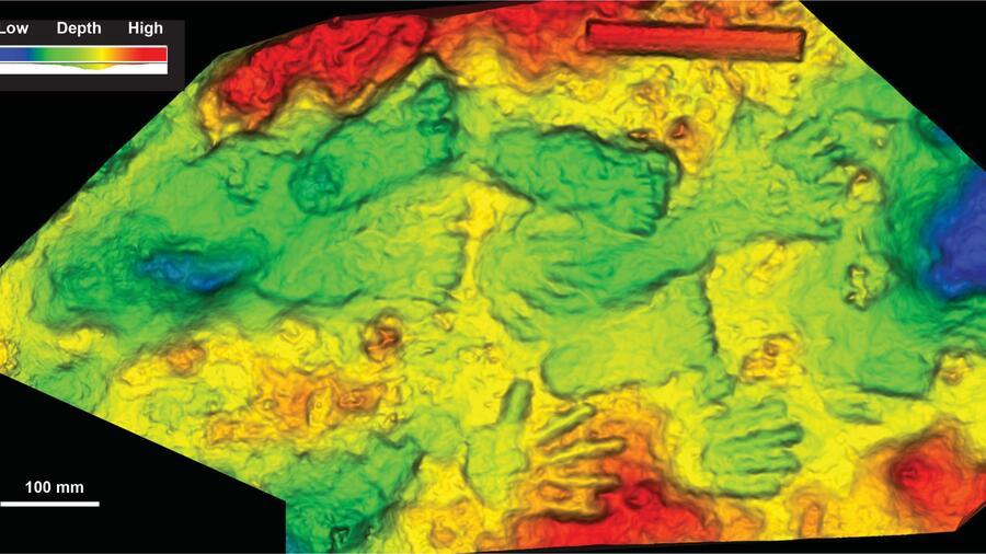 Estas huellas de manos y pies podrían haber sido hechas hace entre 169,000 y 226,000 años