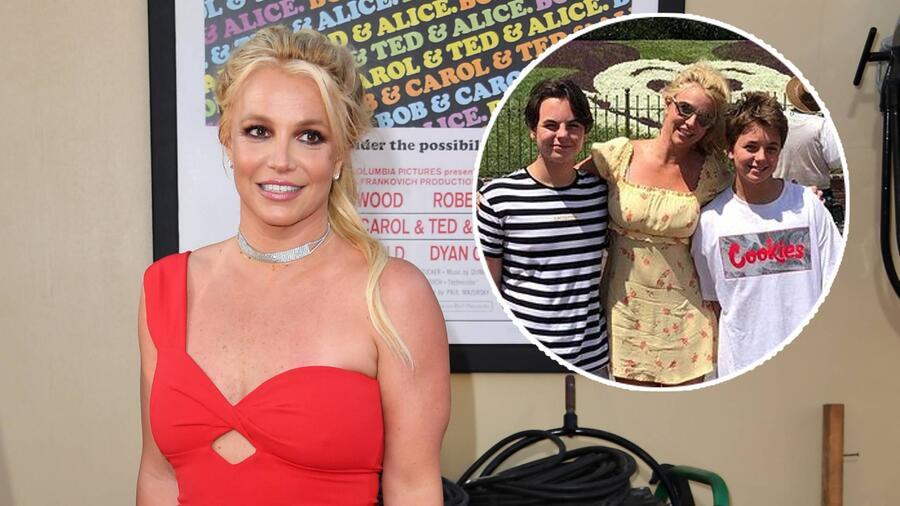 Britney Spears con sus hijos Sean y Jayden Federline