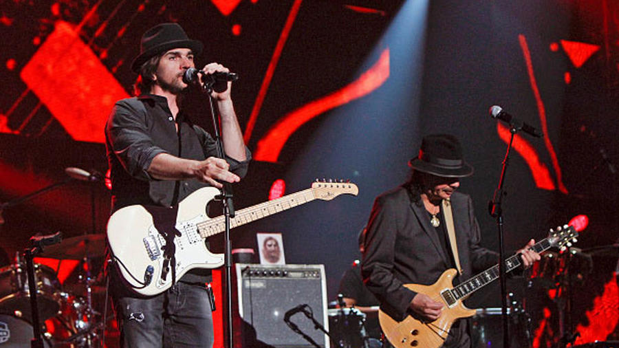 Juanes y Carlos Santana Latin Billboards