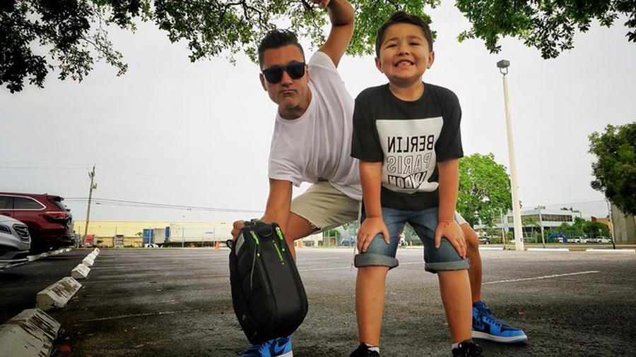 Jorge Bernal y su hijo Lucas foto de Instagram