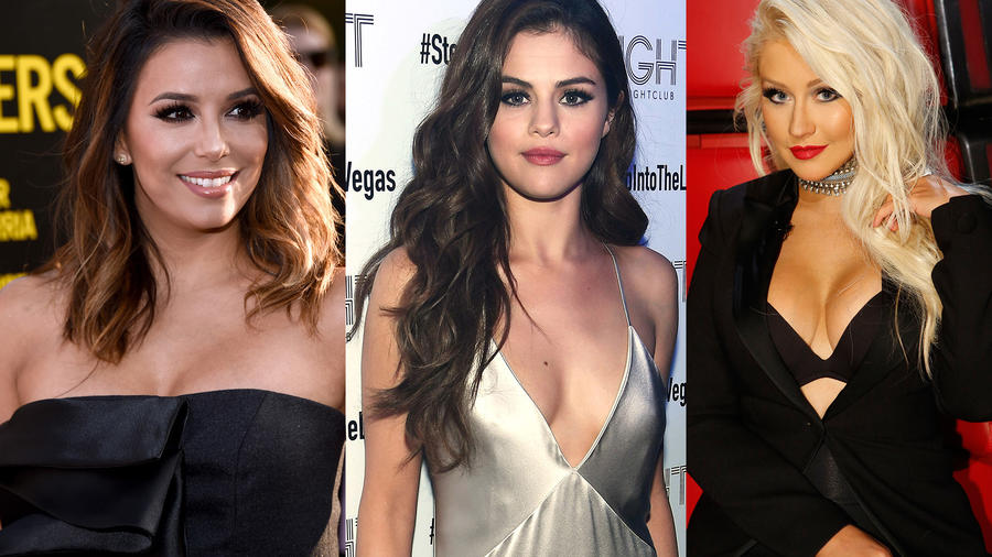 Eva Longoria, Selena Gomez y Christina Aguilera