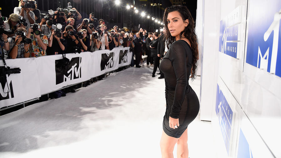 Kim Kardashian en MTV Video Music Awards, agosto 2016
