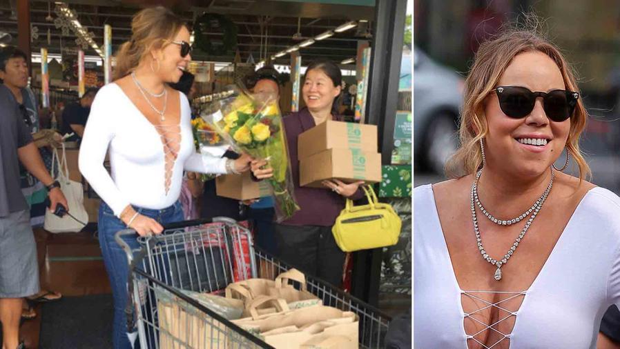 Mariah Carey fue de compras en Hawái