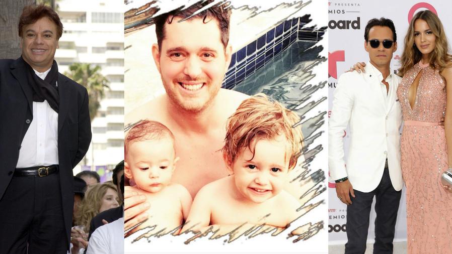 Juan Gabriel, Michael Bublé, Marc Anthony y Shannon de Lima