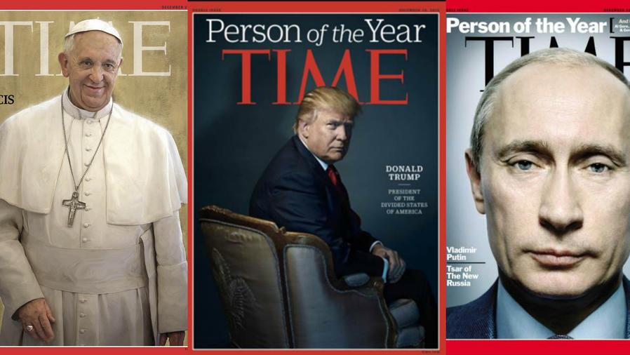 Papa Francisco, Donald Trump y Vladimir Putin, en la portada de Time