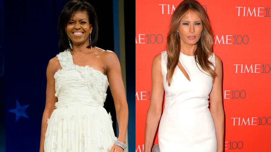 Melania Trump y Michelle Obama.
