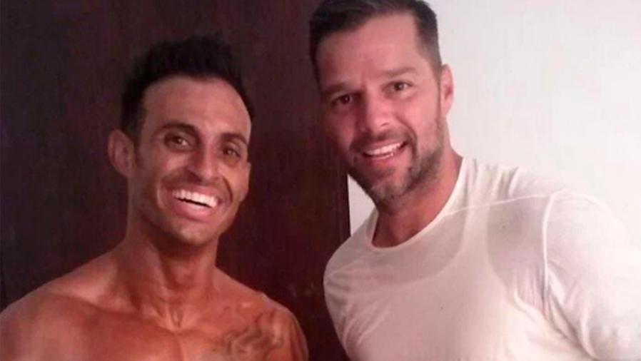 Ricky Martin junto a su hermano Eric, de 36 años.