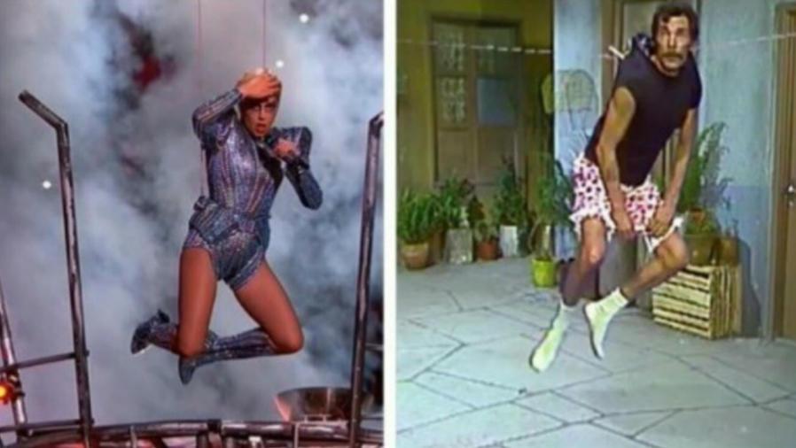 Meme de Lady Gaga comparándola con Don Ramón