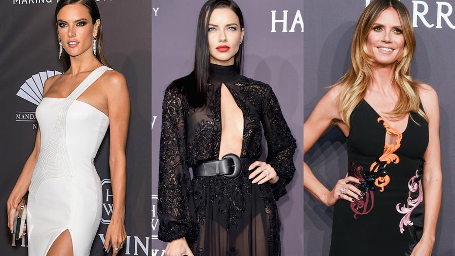 Alessandra Ambrosio, Adriana Lima y Heidi Klum en la gala amfAR 2017