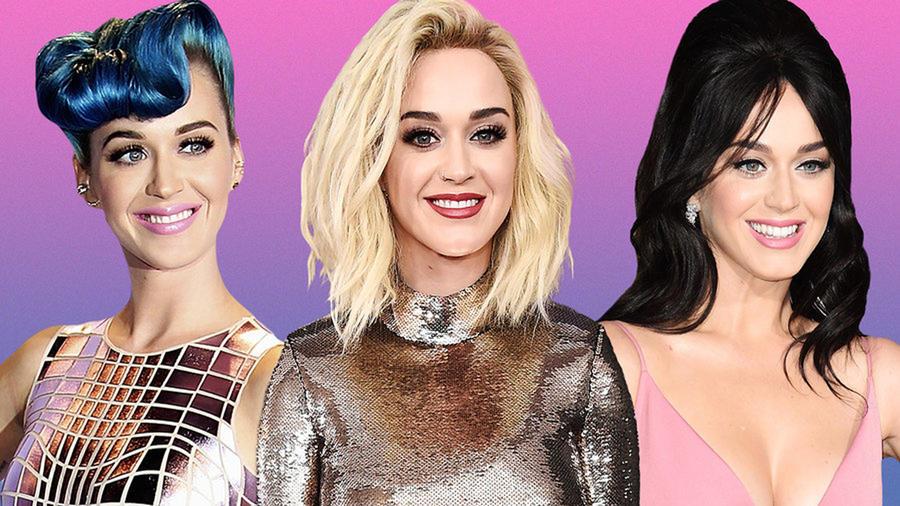 Katy Perry con tres looks de cabello