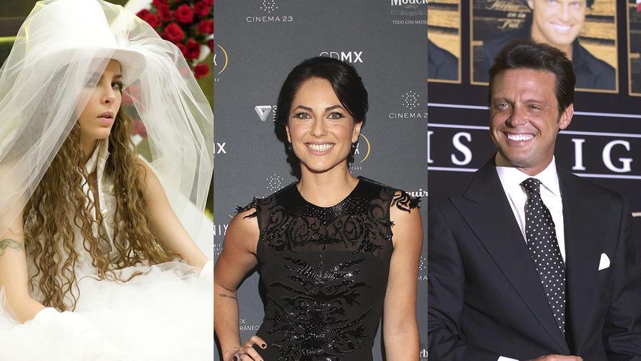 Collage de fotos de Belinda, Bárbara Mori y Luis Miguel.