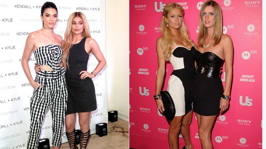 Kendal y Kylie Jenner,  Paris y Nicky Hilton