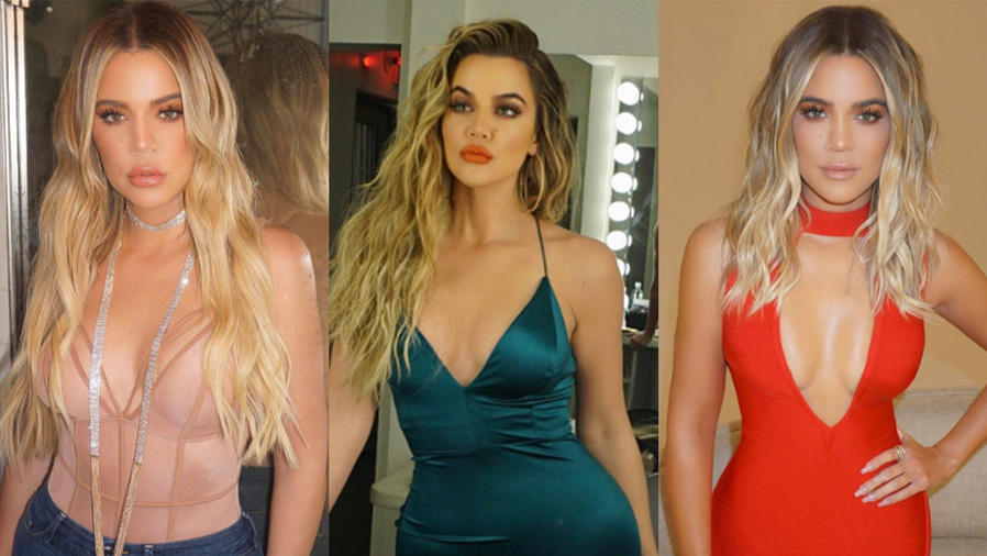 Collage de fotos de Khloé Kardashian.