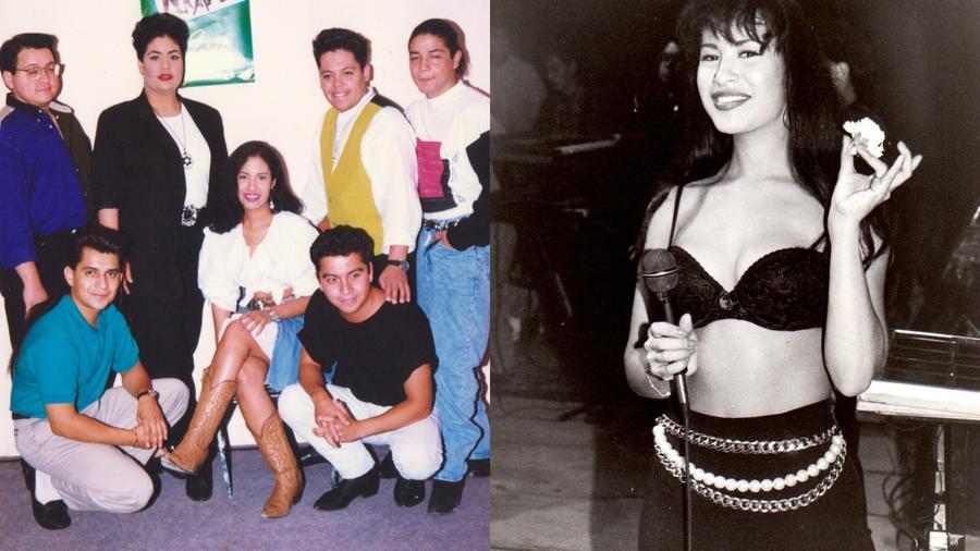 Collage de Selena y Selena y los Dinos.