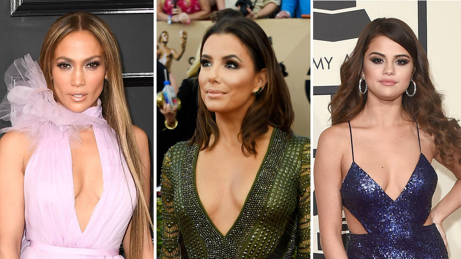 Jennifer Lopez, Eva Longoria y Selena Gomez luciendo sus escotes