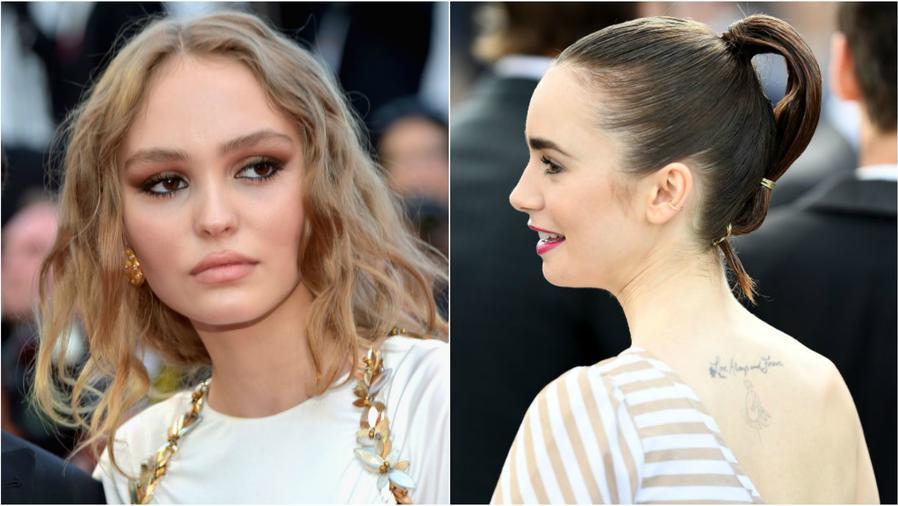 Lily-Rose Depp y Lily Collins en la 70 edición del Festival de Cine de Cannes 2017