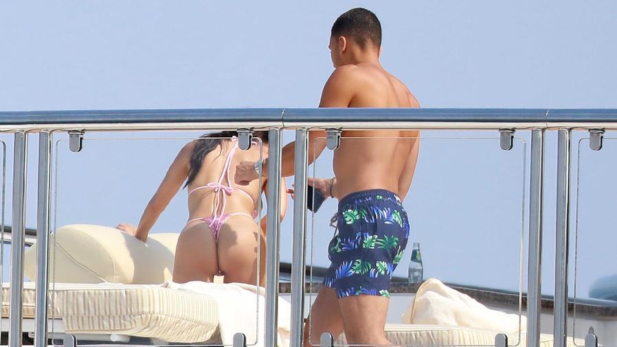 Kourtney Kardashian y su novio Younes Bendjima