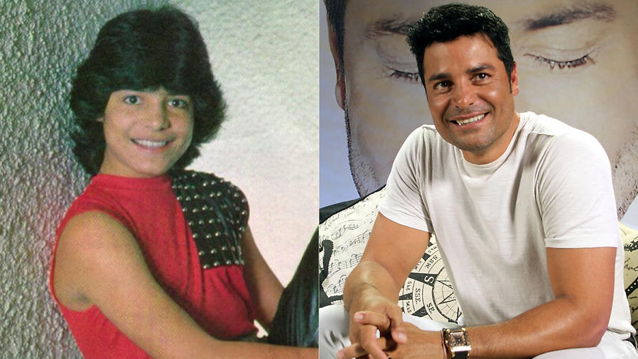 Collage de Chayanne, antes y después.