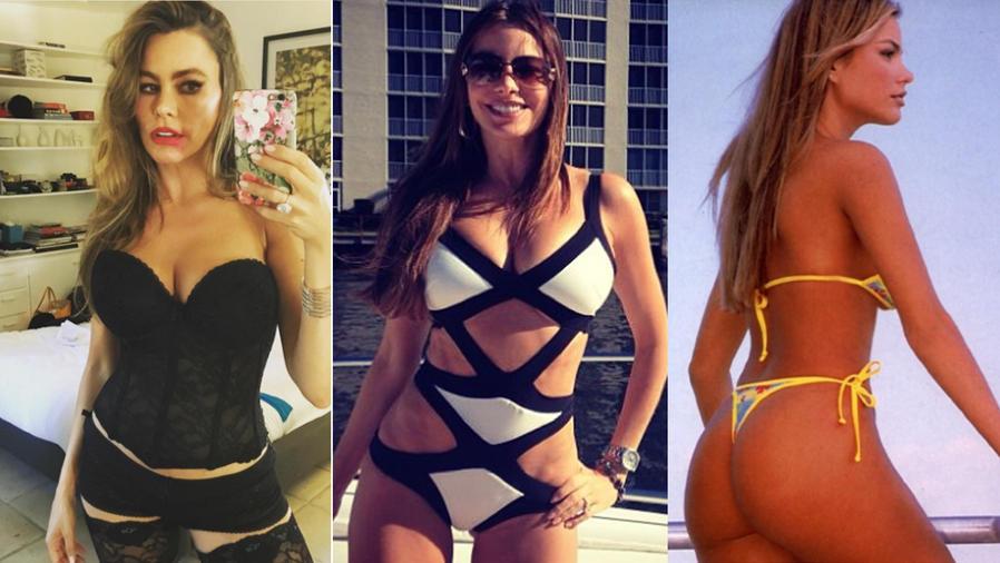 Collage de Sofía Vergara sexy en Instagram.
