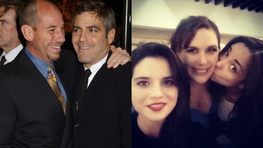 Collage de George Clooney, Miguel Ferrer, Eva Vale, Angélica Vale y Lucila García Lourdes.