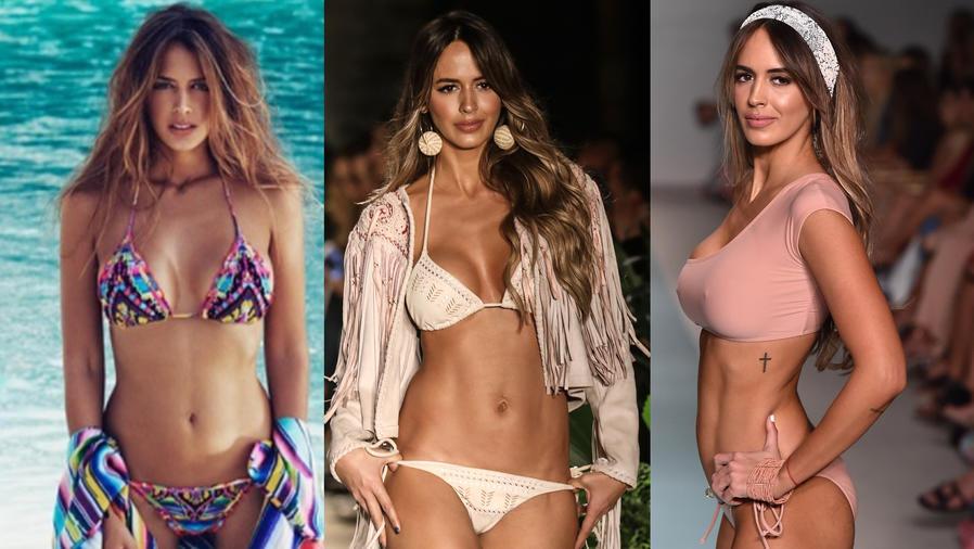 Collage de Shannon de Lima en bikini.