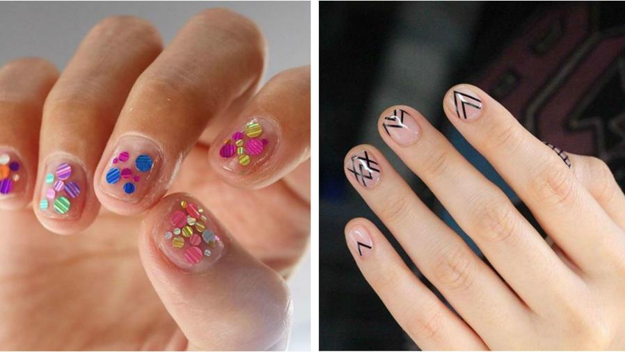 Collage de uñas transparentes