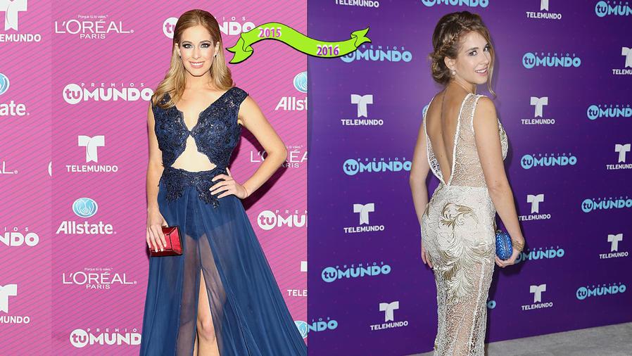 Carmen Aub en la alfombra de Premios Tu Mundo.