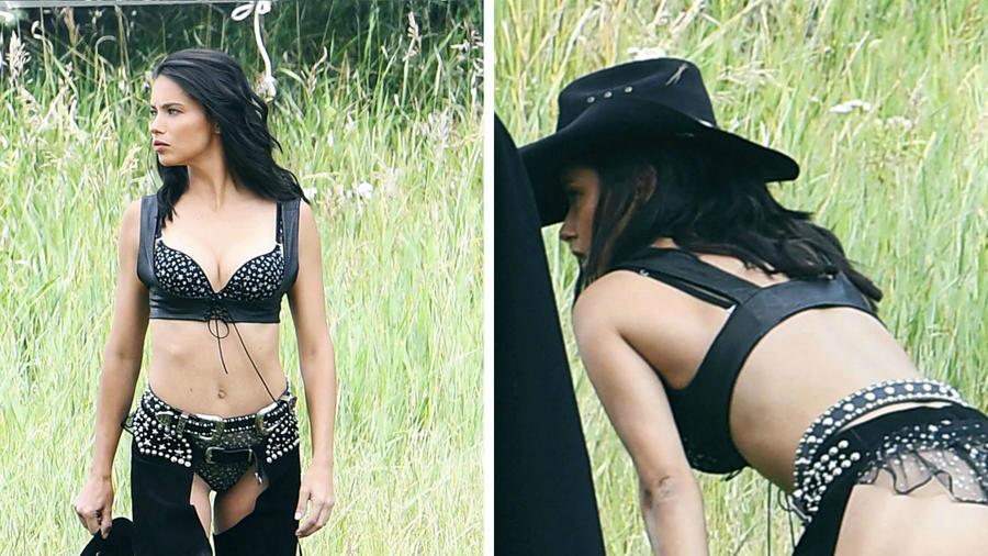 Collage Adriana Lima mostrando su trasero