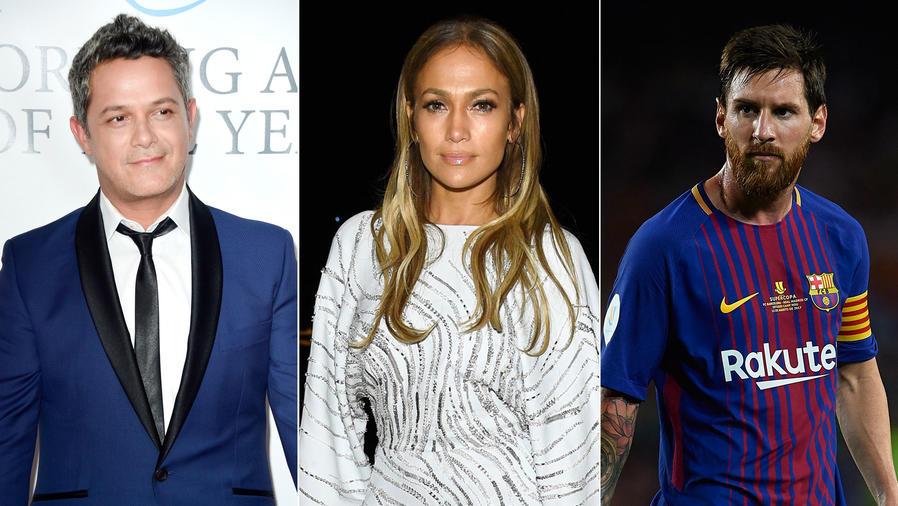 Alejandro Sanz, Jennifer Lopez, Leo Messi