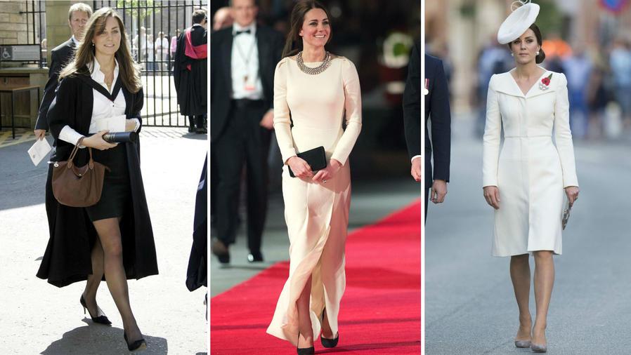 Collage evolución Kate Middleton