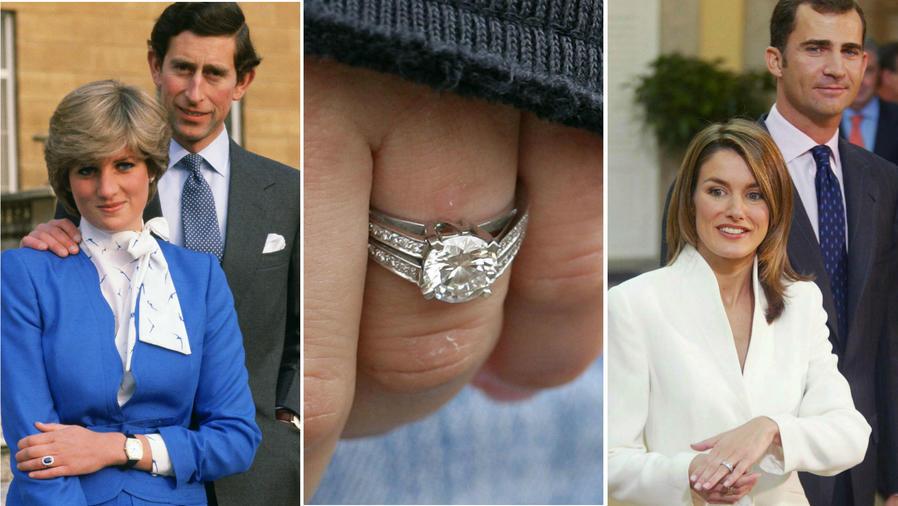 Collage anillos de compromiso