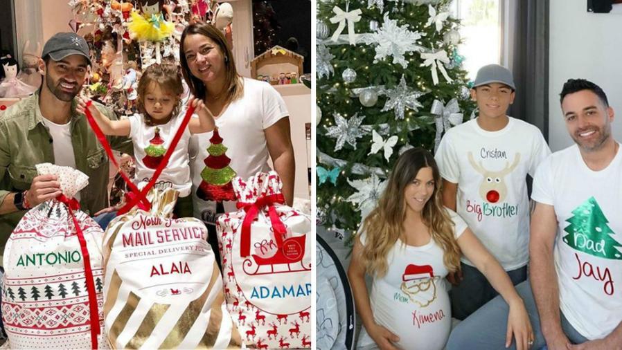 Collage navidad de las mamás famosas